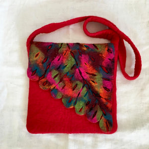 Large Felted Wool Bag Red
