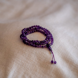 Amethyst Mala Prayer Beads 6mm