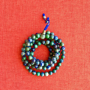 Azurite Mala (Prayer Beads) 8mm