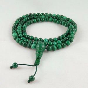 Malachite Mala (Prayer Beads) 6mm