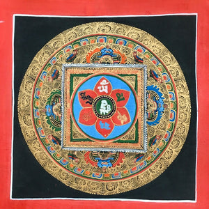 Mandala Painting Om Mani in Square
