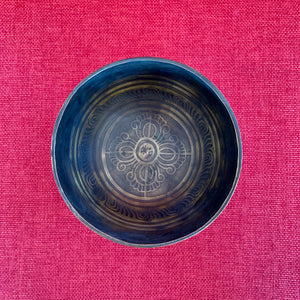 12cm Double Dorje and Om Mani Singing Bowl