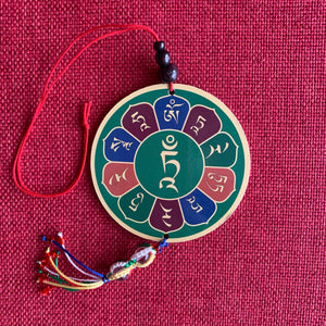 Green Tara Wooden Hanging Disc