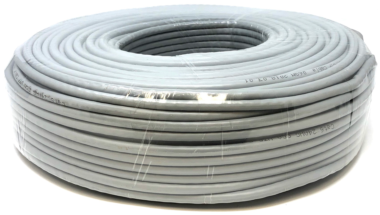 Ethernet Network Bulk Cable UTP Category 6 CCA 24AWG Color Grey 100 meters
