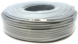 Ethernet Network Bulk Cable UTP Category 5e CCA 24AWG Color Grey 100 meters