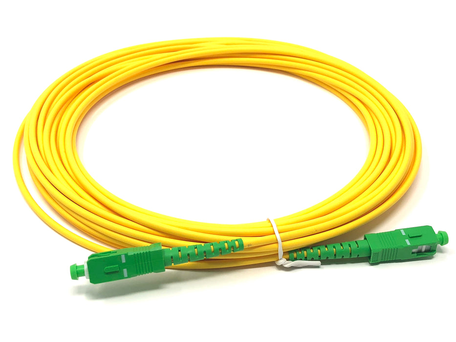 Fiber optic cable 9/125 mono mode simplex SC/APC to SC/APC 10 meters - Mr. Tronic