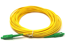 Fiber optic cable 9/125 mono mode simplex SC/APC to SC/APC 15 meters - Mr. Tronic