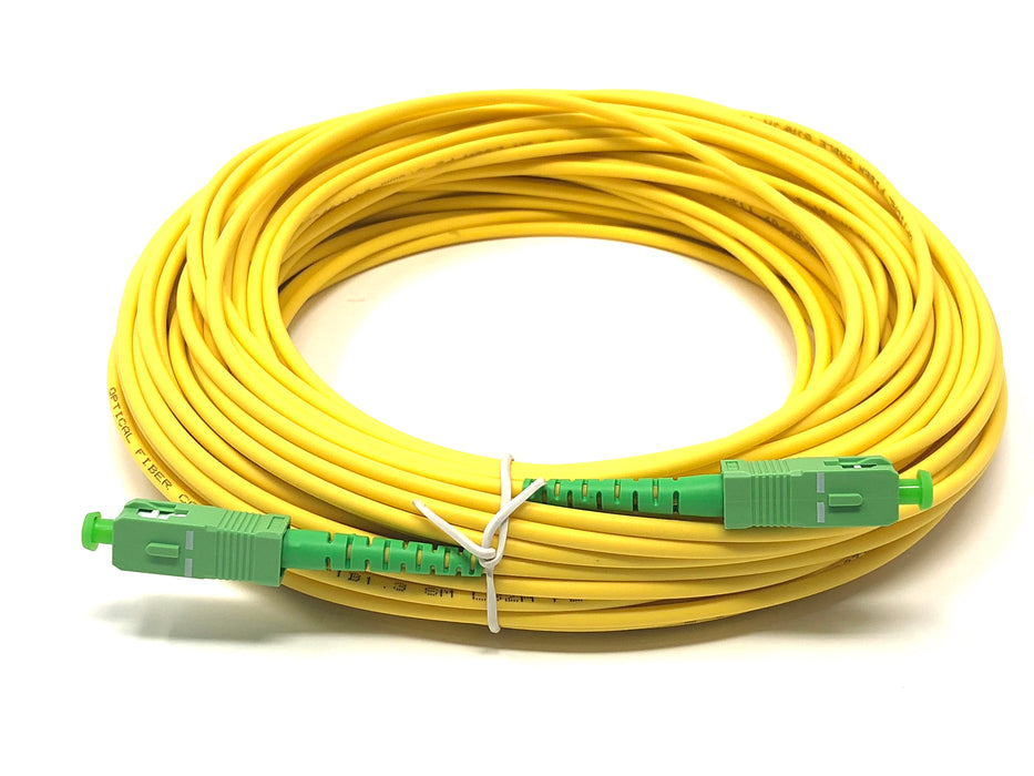 Fiber optic cable 9/125 mono mode simplex SC/APC to SC/APC 25 meters - Mr. Tronic