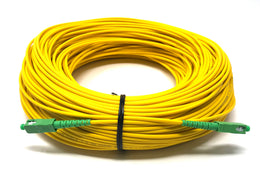 Fiber optic cable 9/125 mono mode simplex SC/APC to SC/APC 100 meters - Mr. Tronic