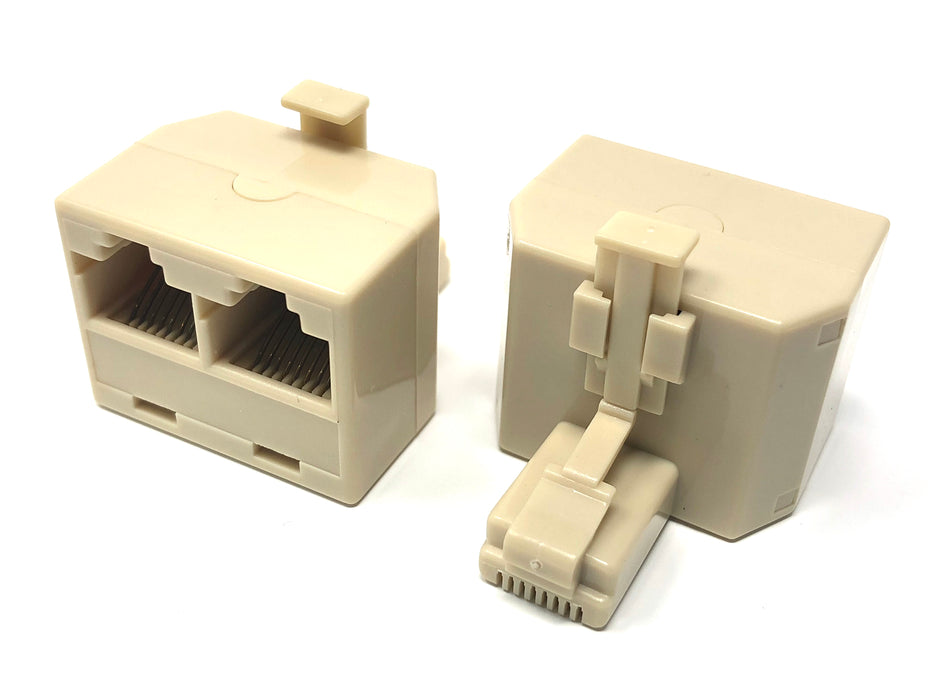 Duplicator 1 RJ45 male to 2 female RJ45 - Mr. Tronic