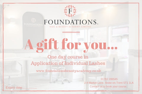 Foundations Gift Voucher - One Day Course in Individual Eyelash Extensions