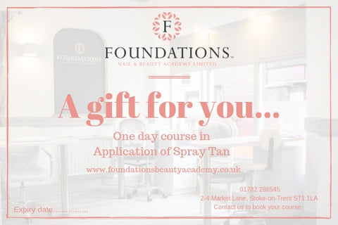 Gift voucher for spray tanning course one day short beauty course