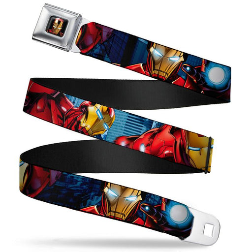 Buckle-Down Seat Belt Belt - Marvel Avengers - Iron Man 3D