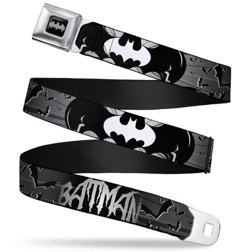 Buckle-Down Seat Belt Belt - Batman Signals