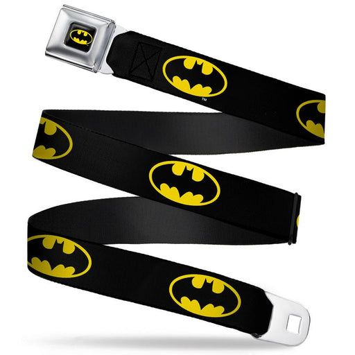 Buckle-Down Seat Belt Belt - Batman Yellow Logo