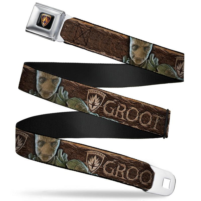 Buckle-Down Seat Belt Belt - Guardians Of The Galaxy - Groot