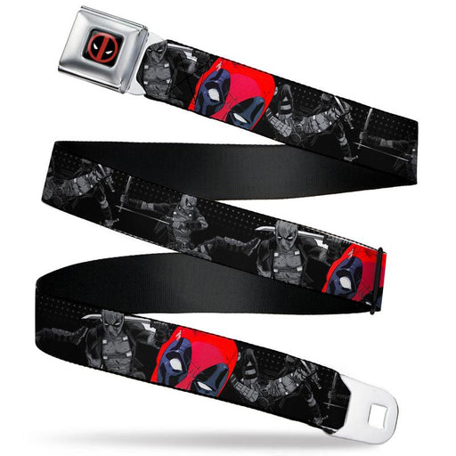 Buckle-Down Seatbelt Belt - Marvel - Deadpool Winking