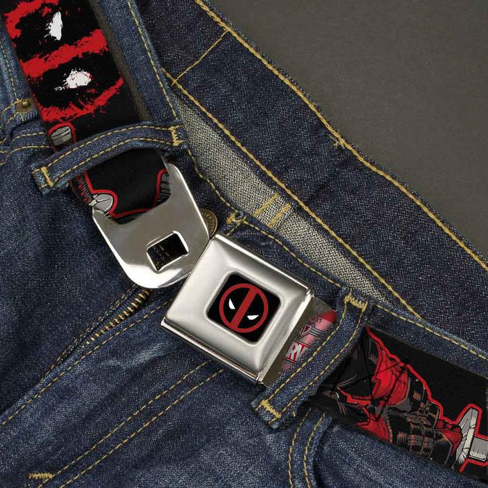 Buckle-Down Seatbelt Belt - Marvel - Deadpool Action
