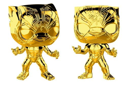 Funko POP! Marvel Studios 10: Gold Chrome - Black Panther
