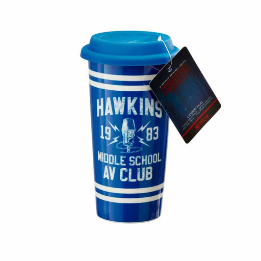 Funko: Stranger Things Travel Mug - Hawkins AV Club