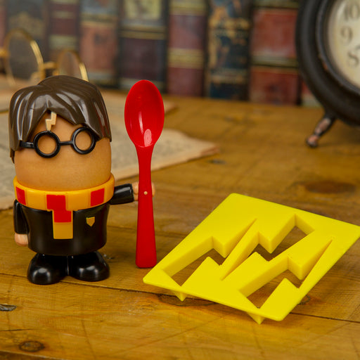 Harry Potter Egg Cup with Toast Cutter & Spoon