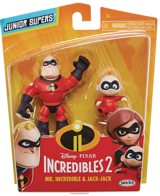 Jakks Pacific: Incredibles 2 Precool 2 Pack Mr.Incredible & Jack-Jack