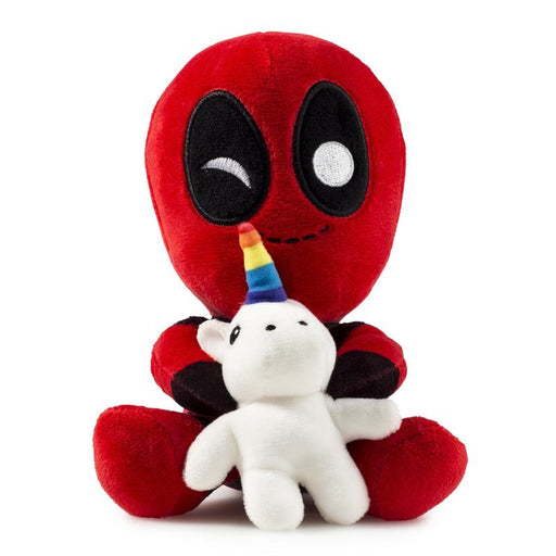 Kidrobot: Phunny Deadpool Riding A Unicorn Plush