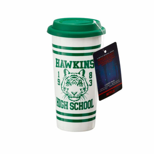 Funko: Stranger Things Ceramic Travel Mug - Hawkins High School