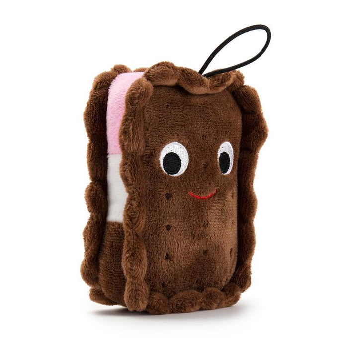 "Yummy World: 4"" Sandy Neopolitan Ice Cream Sandwich Mini Plush"