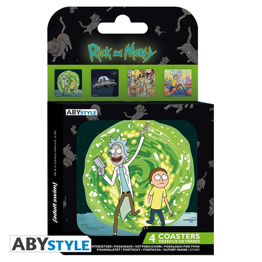 Rick and Morty Coasters - Set of 4