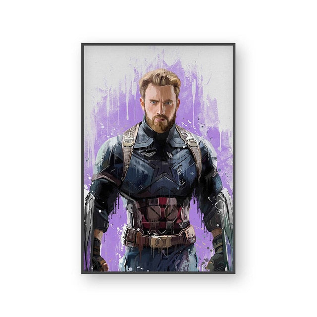 Poster Captain America | Art décoratif | Art moderne