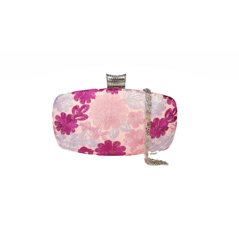 Elise Pink Embroidered Clutch - Styles of Soki