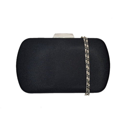 Zoe Black Evening Rounded Clutch Bag - Styles of Soki