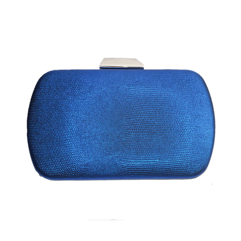 Zoe Blue Evening Rounded Clutch Bag - Styles of Soki