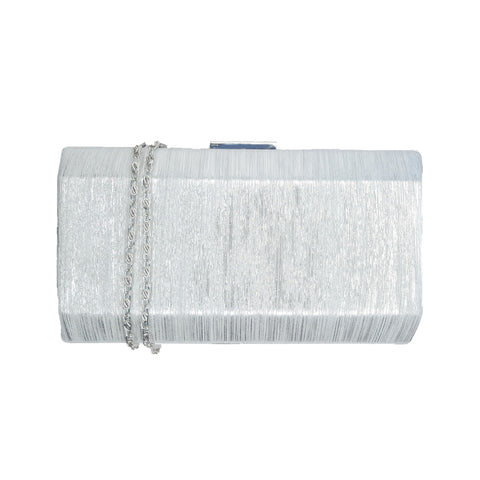 Carrie Silver Metallic Clutch - Styles of Soki