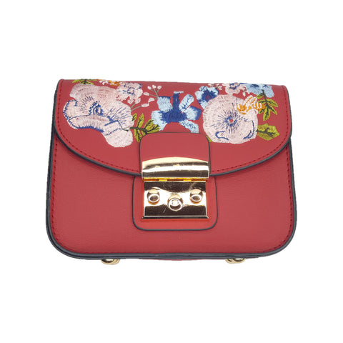 Yvette Red Embroidered Side Bag - Styles of Soki