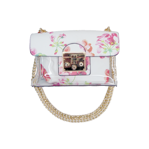 Dione Floral Purse Bag White - Styles of Soki