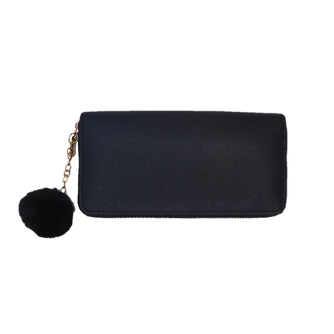 Reba Pom Pom Black Purse - Styles of Soki