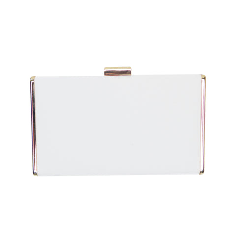 Louella White Box Clutch - Styles of Soki