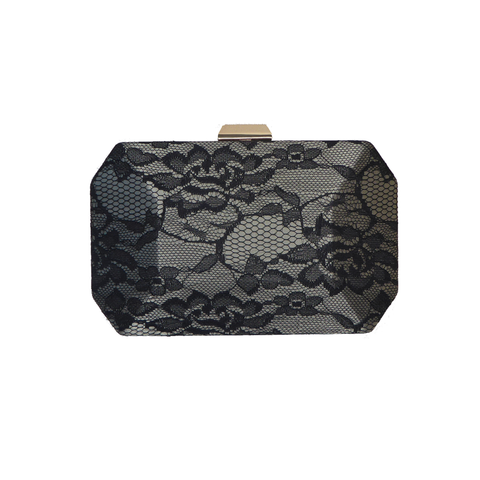 Aretha Black Lace  Clutch - Styles of Soki