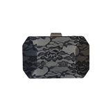Aretha Black Lace Hexaganol Clutch - Styles of Soki
