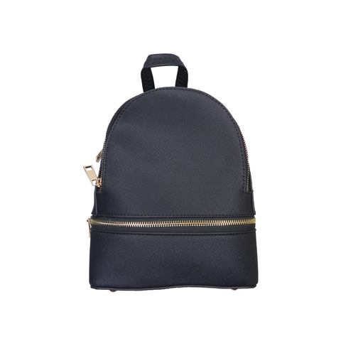 Nora Zipper backpack black - Styles of Soki