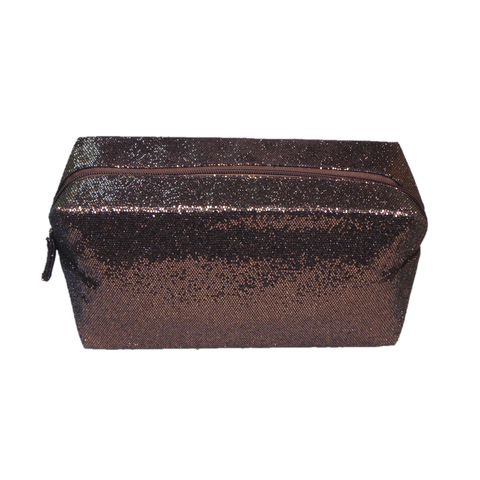 Whitney Glitter Makeup Bag Copper - Styles of Soki