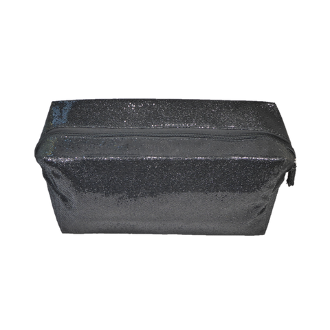 Whitney Glitter Makeup Bag Black - Styles of Soki