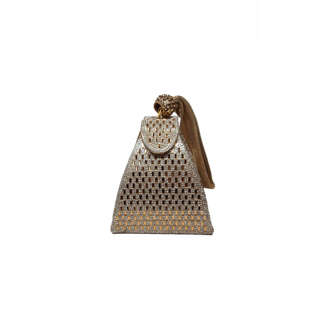 Amaya Pyramid Bag Gold - Styles of Soki