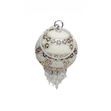 Maya Round Ball Clutch White Gold with Pearl - Styles of Soki