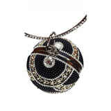 Maya Round Ball Clutch Black Gold with Pearl - Styles of Soki