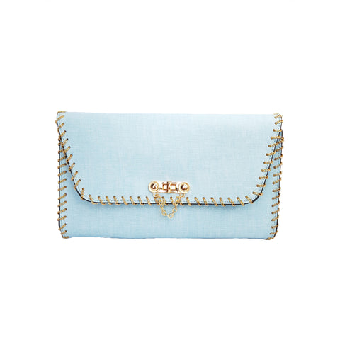 Deanna Chain Detail Bag Blue - Styles of Soki