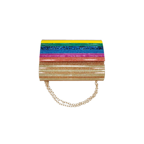 Aurelia Acrylic Rainbow Clutch Bag - Styles of Soki