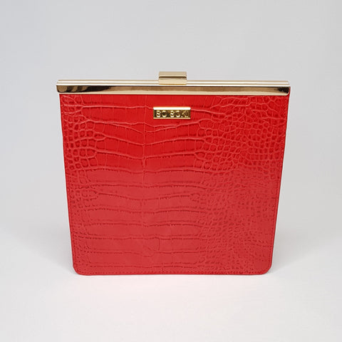 Shana Structured Red Bag - Styles of Soki